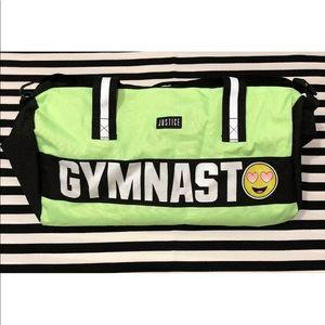 Justice Emoji Gymnast Glitter Graphic Duffle Bag